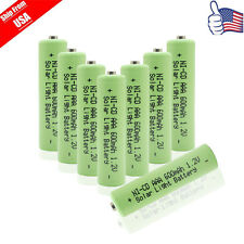 8x AAA 1.2V 600mAh Triple A Rechargeable Battery For Garden Solar Light Green