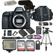 Canon EOS 6D Mark II Digital SLR Camera (Body Only) + Video Creator Bundle