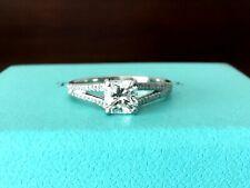 Tiffany & Co Platinum and Diamond Split Shank Engagement Ring .85 CT G VS1 $11k