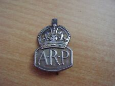 Original  WWII  LADIES / BERET  ARP WARDEN (Hall Marked)  Sterling Silver BADGE