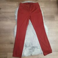 Ann Taylor Womens Rust Clay Red Skinny Modern Fit Pants Jeans Sz 10 Cotton-Blend