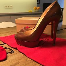 Original CHRISTIAN LOUBOUTIN Gr. 38 BIANCA Brown LACK