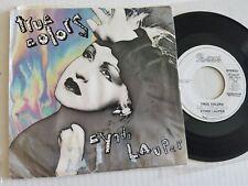 "CYNDI LAUPER - True Colors PROMO 7"" P/S Synth Pop 1986"