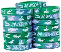Crocodile Party Silicone Wristbands - Great Alligator Party Supplies Pack of 15