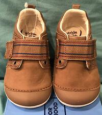 STRIDE RITE Infant Boys SM CAMERON Soft Motion Brown Leather Shoes 4.5M NIB