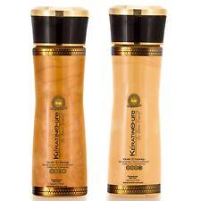 Keratin Cure Gold & Honey Hair Shampoo Conditioner Argan Sulfate Free 160ml 5 oz