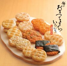 Rice Crackers 8 kinds Japanese Senbei healthy tasty Lots 22 bags canned Japan FS