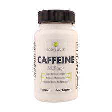 BODYLOGIX CAFFEINE PILLS 200mg 100 TABLETS NEW-SEALED FREE SHIPPING