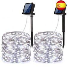 Criacr Guirnalda Luces Exterior Solar, 2 Paquete 100 LED 2 Modos Luces Solares