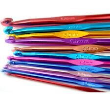 12 Pcs Aluminium Crochet Needles Set Yarn Knitting Sewing Hooks 2 to 8 Mm