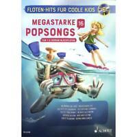Megastarke Popsongs - Band 16 mit CD - Für 1-2 Sopran-Blockflöten