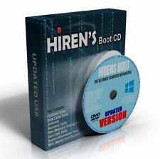Hirens Boot CD 100s Repair Recover MBR Tools Windows XP/7/8.1/10/Vista NEW DVD
