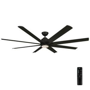 Home Decorators Collection Kensgrove 72 in. LED Matte Black Ceiling Fan