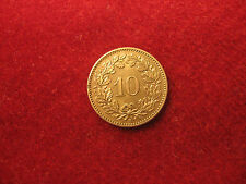 "1873 "" B "", 10 Rappen. Almost Uncirculated. Rar! (Winzige Felge Nicks)"