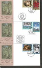 Un Sc # Ny 777-778, Geneva 356-357, Vienna 273-274 Our World 2000 Fdc. Unpa