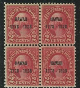 U.S. Stamps Scott #647 Block of 4,MINT,H top 2,2 NH,VF  (A7860N)