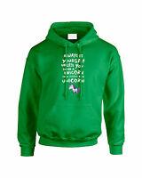 Womens I Wish I was a Unicorn Hoodie Hooded Sweatshirt Jumper Ladies