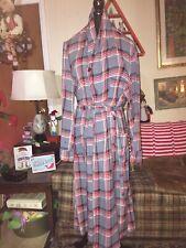 Vintage Unisex Lounging Robe Luxurobe Xl 1940's Gray & Red Plaid