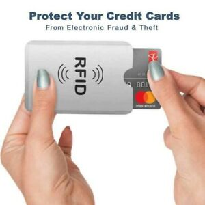 10 X RFID sleeve bank Card Holder for wallets Contactless Anti Theft Protector