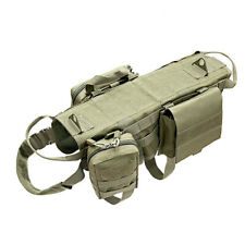 Tactical Molle Dog Coat Adjustable K9 Training Harness Backpack with 3 Pouches