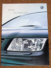 2001 Model Year VW BORA Sales Brochure - V6 4Motion V5 Sport SE S TDI, TDI PD