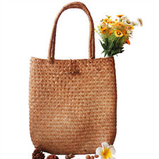 Bali Island Hand-Woven Rattan Bag Straw Purse Circle Handmade Wicker Travel Hot