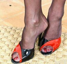 Sexy Women Metal High Heels Mules Open Toe Stilettos Sandals Slipper Party Shoes