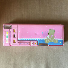 Vintage 1991 Sanrio Just for Fun Bear Pencil Case Pop Up Open Kawaii