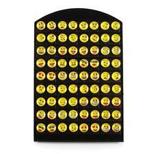 meilleure vente 36 paires / cartes Emoji Boucles d'oreilles Cartoon sourire