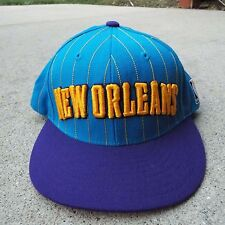 New Orleans Hornets Pin Stripe Snap Back 100% Wool Adidas Hat Cap