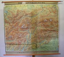 schöne Schulwandkarte Innsbruck Ortler Südtirol Trient Garda Alpen 192x185 1958