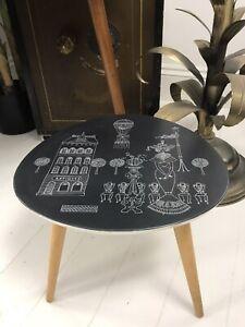 Mid Century Rare 1950s Plastilan Side Table By German Company Ilse Möbel