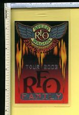 Reo Speedwagon 2003 Family Backstage Pass Laminate; Authentic Used Pass