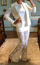 White Lace Flare Pants Size M