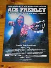 ACE FREHLEY - KISS - 2015 Australia Tour SIGNED AUTOGRAPHED  Poster