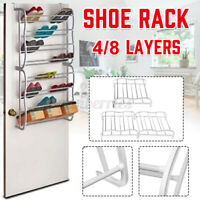 8/4 Shoe Holder Organiser Over The Door Hanging Shelf Rack Storage Hook D G