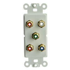 Decora Wall Plate Insert, White, 5 RCA Couplers Component - Audio
