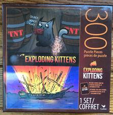 Exploding Kittens 300 Puzzle Pieces 1 Set INCLUDES BONUS CARD Unfair Advantage