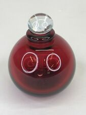 """Kevin Gray Hand Blown Art Glass Perfume Bottle Signed & Dated 1990 Red 3"""" High"""
