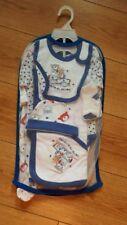 BABY BOY NEW 6 PEICE SET FOR  0-3 MONTHS BABY SLEEPSUIT BABYGROW BIB HAT BODY VE