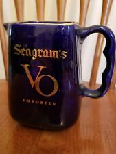 Seagram's VO Imported Ceramic Stein Pitcher Blue Gold Canadian Whiskey Liquor