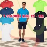 Men's Ultra Cool 100% Polyester Poloshirt Sports Casual Work Wear Polo Shirt TOP
