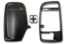 VW Crafter Wing Mirror Black Back Casing Cover + Inner Bezel Frame Left Side N/S