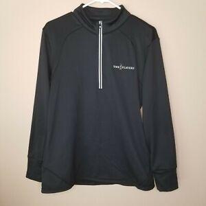 FootJoy FJ Men's Black Pullover 1/4 Zip Long Sleeve Golf Shirt M