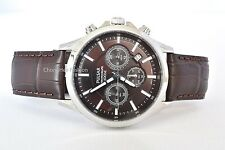 Pulsar Watches Men WristWatches Leather Strap Stainless Steel Gent Timepiece New