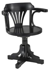 Pursers Home Office Desk Chair Black 3070 Wooden Nautical Furniture Decor New