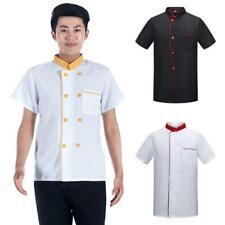 Top Tie Unisex Chef Coat Short Sleeve Kitchen Cook Jacket Restaurant Uniforms