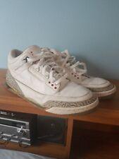 2003 Air Jordan 3 Retro White Cement Grey '88 Fire Red Size 12 1994 1988 2001
