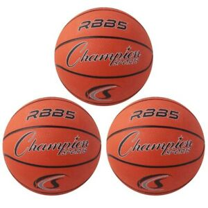 CHAMPION SPORTS RBB5-3 (3 EA) MINI BASKETBALL 7IN DIAMETER