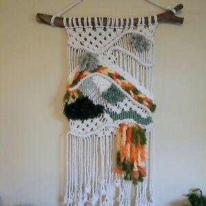 Macramé Weave Wall Hanging, Textile Wall Art, Home Décor